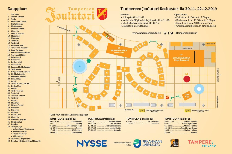 Kartta tapahtumaan Tampereen Joulutori 2020